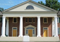 James Madison's Montpelier - On the tour, they'll tell you that behind the three windows over the center door is where the Constitution's first draft was written.
